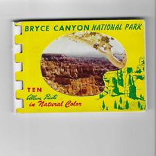 POSTCARD FOLDER-MINI-BRYCE CANYON NATIONAL PARK-TEN VIEWS