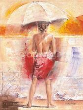 Talantbek Chekirov: Beach of my dreams Fertig-Bild 60x80 Wandbild Mädchen Erotik