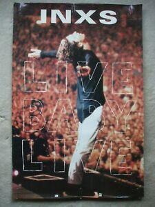 INXS Live Baby Live 1991 promo poster Atlantic Records Michael Hutchence