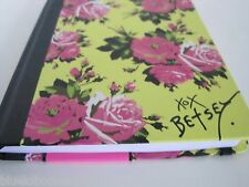 Betsey Johnson Journal Roses Back to School Notebook Pink Yellow Diary Goals New