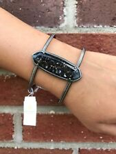 💖🌟NWT Kendra Scott Lawson Bracelet in Crushed Black MOP/Antique Silver🌟💖