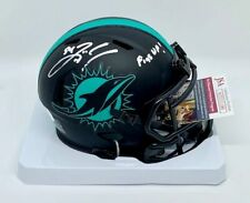 ZACH THOMAS AUTO Signed Mini Helmet ECLIPSE Fins Up Miami Dolphins JSA