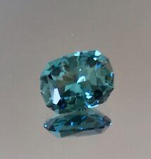 USA precision faceted greenish Blue Indicolite tourmaline 1.53 Cushion Brilliant