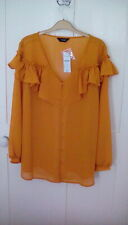 BNWT - Yours Clothing - yellow chiffon long sleeve blouse, size 18, RRP £23.99