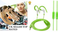 OVER EAR CLIP HEADPHONE HOOK SPORTS GYM JOGGING RUNNING EARPHONES WITH MIC