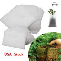 COCESA 200pcs Biodegradable Non-woven Nursery Fabric Seedling Bag Plant Grow Pot