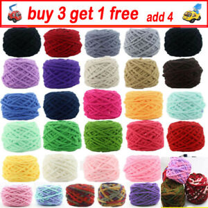Thick Chunky Chenille Yarn Super Soft DIY Blanket Bulky Arm Knitting Wool Yarn N