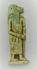 BEAUTIFUL ANCIENT EGYPTIAN GLAZED FAIENCE AMULET OF HORUS