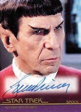 Star Trek Movies H & V Leonard Nimoy as Spock A126 Auto Card