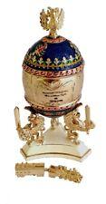 Copie oeuf de Fabergé bleu -Trans-Siberian express