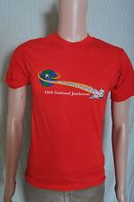 VTG '80s 1989 Boy Scout National Jamboree the adventure begins red t shirt XS