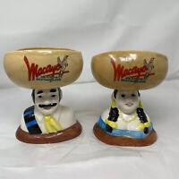 Vintage Macayo's Margaritas Mexican Pair 2 Margarita Mugs Salsa Dish Bowl Mug