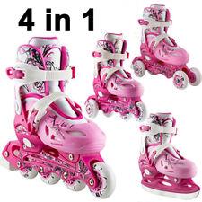 4 IN1 Kinder Inlineskates Rollschuhe größenverstellbar Schlittschuh NJ0320 Nils