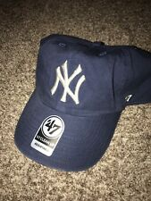13a0fac13ba New York Yankees 47 Brand Clean Up Slouch Adustable Hat Cap Blue