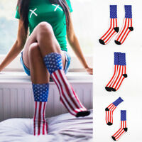 American Flag Men's Cotton Stars&Stripes Sock Old Glory Casual Crew Sell