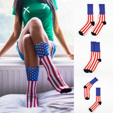 Fashion American Flag Mens Cotton Stars&Stripes USA Socks Old Glory Casual Crew