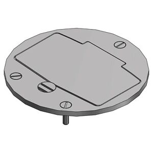 STEEL CITY P60-CACP-GFI-AL Floor Box Cover,Round,Aluminum,3/8 in.