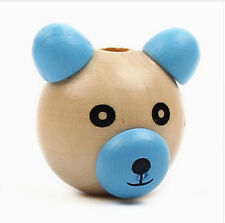 10pcs Natur Wooden 3D Bear Ball DIY Pacifier Clip Jewelry for Children Kid