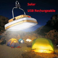 Solar Power USB Rechargeable LED Camping Tent Light Lantern Lamp Flashlight