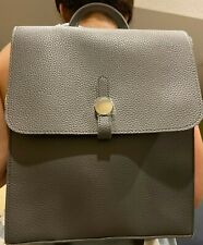 Fancy Gray Bag Pack Faux Leather New