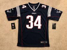 NWT Nike New England Patriots Rex Burkhead 34 Youth Large 14/16 Blue Jersey