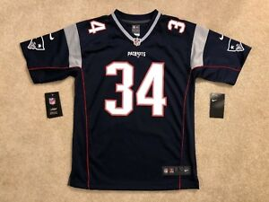 NWT Nike New England Patriots Rex Burkhead 34 Youth Large 14/16 Blue Jersey