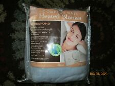 Biddeford Electric Heated Blanket Twin Size Comfort Knit Blue 62 x 84