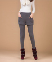 Thermo Leggings mit Hose Jeggings Grau Hose Damen Asian Style 36 38 40 42 S M L