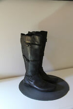 jolies bottes plates cuir noir zippées hiver GEOX pointure 38 en  EXCELLENT ÉTAT
