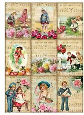 Vintage Seaside Days Glossy Finish Card Making Topper - Crafts Embellishment