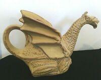Dragon Shaped Teapot Stonebridge Pottery Sitting Yellow- 6.5 x 11