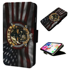 USMC Marines Corpse Flag - Flip Phone Case Wallet Cover - Fits Iphones & Samsung