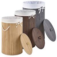 Wäschekorb Wäschesammler Bambus Wäschebox Wäschesack Korb Wäschetonne Juskys®
