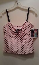 NEW CATALINA Tankini top only MED (8/10) polka dots FREE SHIP 1/2 off 2nd
