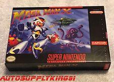 MEGA MAN X (Super Nintendo SNES, 1993) Game Complete CIB w/ Custom Box VERY MINT