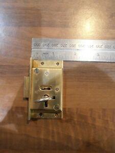 "Legge Solid Brass 4 lever 2 1/2"" cut cupbard / drawer lock with key"