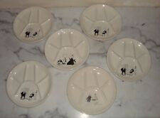 lot de 6 assiettes a fondu JACQUES FAIZANT ASSIETTE A COMPARTIMENT SAINT AMAND