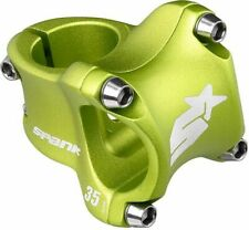 Spank Spike Race 2 Stem - 31.8mm, 0 Degree, Alloy, Green 30mm MTB