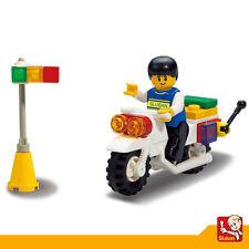 Juguete Educativo de Construccion SLUBAN Motocicleta y Semáforo 29PZS - M38-B270
