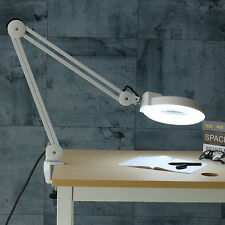Magnifying Lamp LED 5x 127mm Glasses Diopter Desk Table Light Adjustable AC 240V