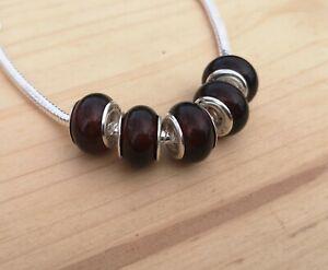 1 Amber bead / European bead / Baltic amber pandora / Amber pandora beads