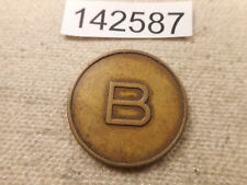 Unusual Two Sided Capital B Medal Nice Collector Item - #  142587