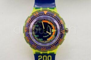 SWATCH SCUBA 1992 - SDJ100 - COMING TIDE - New