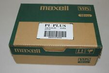 Maxell Tapes 10 Pieces Units Sealed Blank T-30 VHS PI Plus 217112 10 PCS