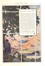 1930 CADILLAC  ROADSTER  ORIG VINTAGE AD