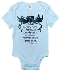 Baby Bodysuit - 1 Samuel 1:27 Christian Religious Baby Clothes