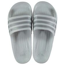 NEW Adidas Mens Duramo Sliders Flip Flops  Clear Onix Gray SIZE FROM 4-14
