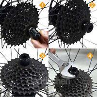 Bike Chain Whip Cassette Bottom Bracket Freewheel Wrench Remover Repair New N4N0