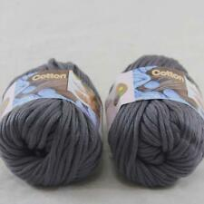 2BallsX50g Chunky Cotton Hand Knitting Smooth Special shawl Thick Yarn Charcoal