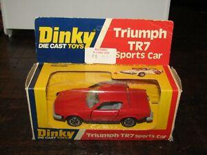 Dinky 211 Triumph TR7 Sports Car Red Very Near Mint In Original Card Box